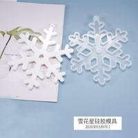 DIY Crystal Epoxy Resin Mold Christmas Snowflakes Listing Mold Decoration Pendant