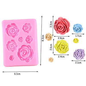 Sugarcraft Rose Flower Silicone Molds Chocolate Confeitaria Candy Fondant Mold Wedding Cupcake Topper DIY Cake Decorating Tools