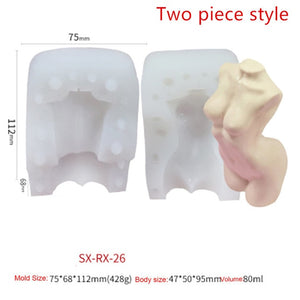 3D Body Candle Mold Silicone Wax Mould Male and Female Design Art Fragrance Candle Making Soap Chocolate Cake Decorating Mold