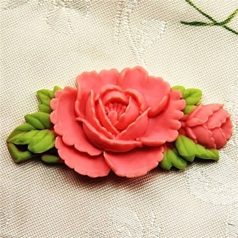 DIY Craft Silicone Mold 6.6cm Single mini Flower Fondant Mold Silicone Sugar mini mold Craft Molds