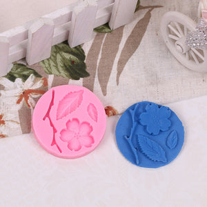 Peach Blossom Silicone Mold 3D Flower Pattern Sugarcraft Silicone Mould Fondant Mold Cake Decorating Tools Chocolate Mold