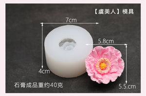 Rose Flower Silicone Mold Flower Shape Soap Mold Candle Mold Handmade Soap Mould DIY Plaster Mold Home Decor