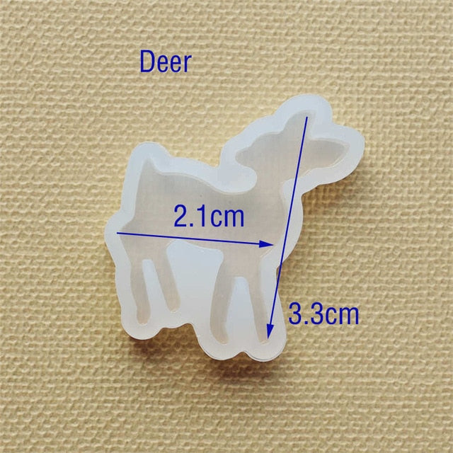 Silicone Mold for jewelry lovely animal cat rabbit deer dolphin Resin Silicone Mould handmade tool DIY  epoxy resin molds