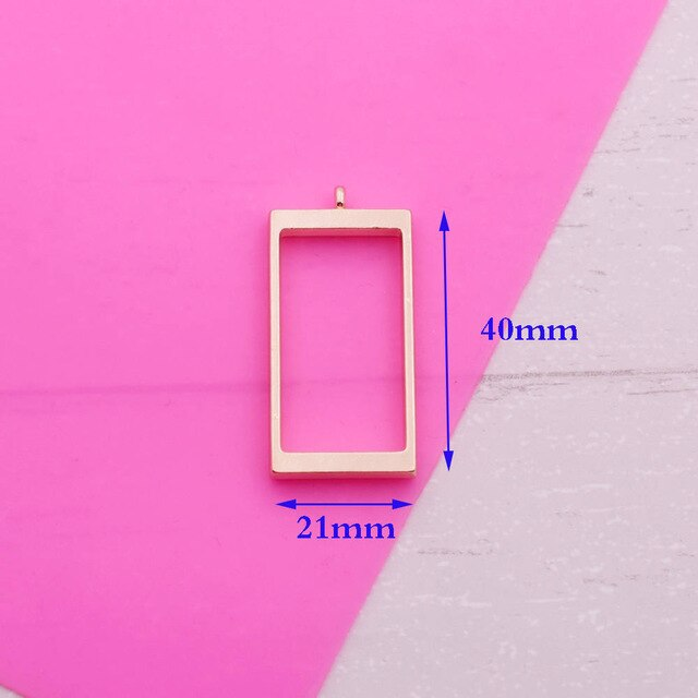 5pieces hollow blank Pendants frame jewelry findings Handmade Craft Floating locket Rectangle Triangular maple leaf Strip drop