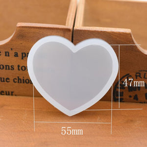 heart star Scrapbooking Silicone Mold for jewelry Resin Silicone Mould handmade DIY  epoxy resin molds