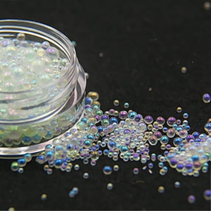 one box Mini Bubble ball beads 1-3mm mixed tiny beads for glass globe Resin Silicone Mould silicon mold filler charms