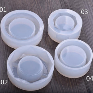 Ashtray Silicone Mold for jewelry Resin Silicone Mould handmade DIY epoxy resin molds container