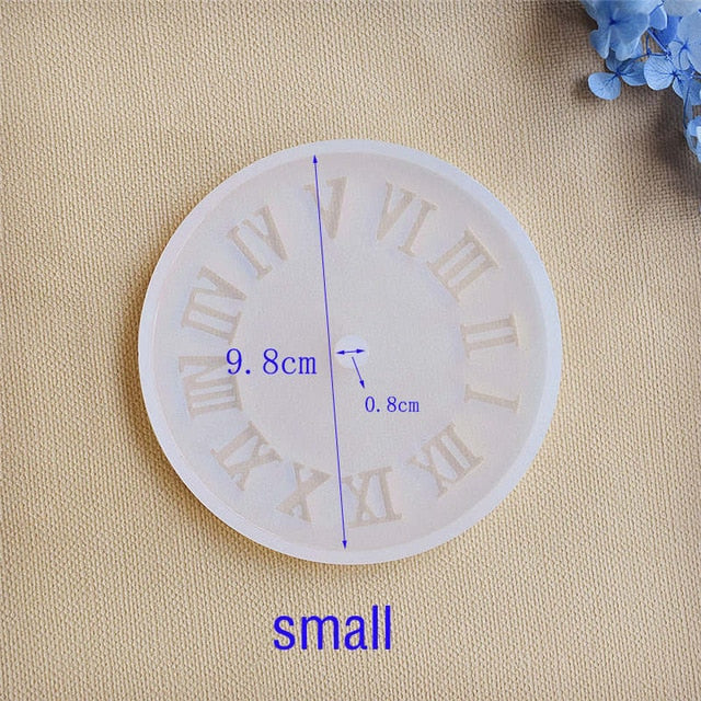 Silicone Mold for jewelry 9.8cm small Clock Resin Silicone Mould handmade tool DIY  epoxy resin molds