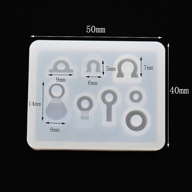 little beads Silicone Mold earrings Resin Silicone Mould handmade DIY Jewelry Making epoxy resin molds