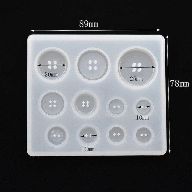 Multi style Pendant Silicone Mold button number letter Resin Silicone Mould handmade DIY Jewelry Making epoxy resin molds