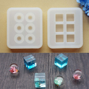 Silicone Mold for jewelry 16mm Cube ball beads 6 compartment Resin Silicone Mould handmade DIY Craft  epoxy resin molds
