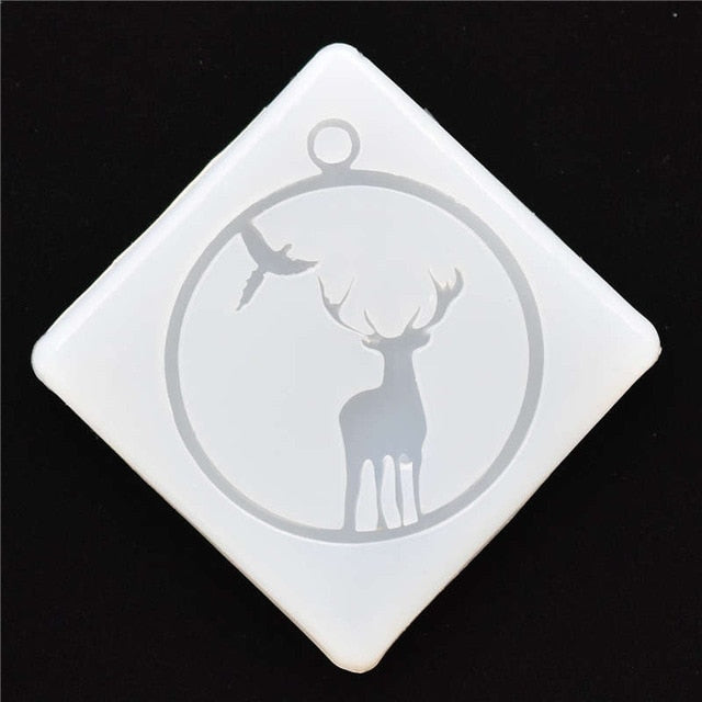 Silicone Mold for jewelry frame animals pendant Resin Silicone Mould  handmade  epoxy resin molds MuJu-diaozhui-004