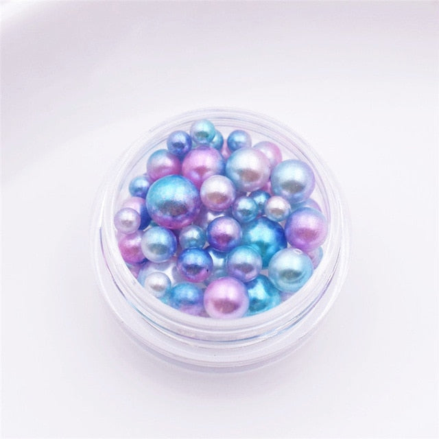 one box plastic pearl beads 2.5-5.5mm mixed tiny ball beads for glass globe Resin Silicone Mould silicon mold filler charms