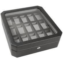 Load image into Gallery viewer, WOLF Windsor 15 Piece Watch Box - Black