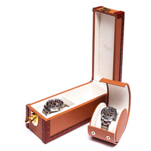 Load image into Gallery viewer, RAPPORT Kensington two watch box - Tan
