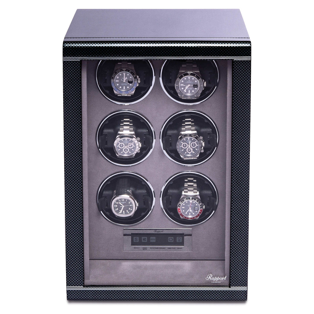 RAPPORT Formula six watch winder - Carbon Fibre