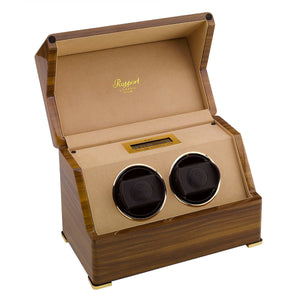 RAPPORT Perpetua III duo watch winder - Walnut