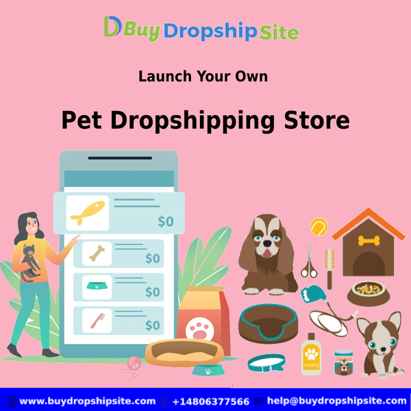 Launch your own pet dropshipping store in an affordable price