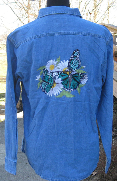 Butterflies n Jeans denim shirt