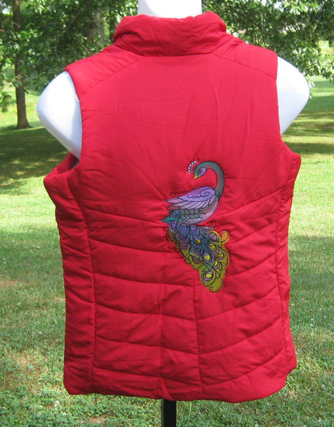 Red Peacock Vest