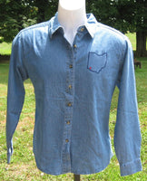 Cincinnati blue jean shirt