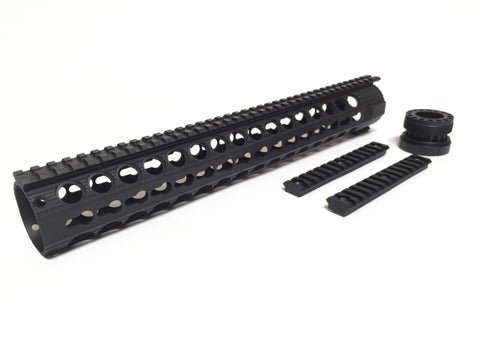 "15"" Key Mod Hand Guard (Black Cerakote)"