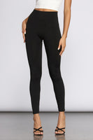 Black - Essential Fleece Leggings - Adami Dolls