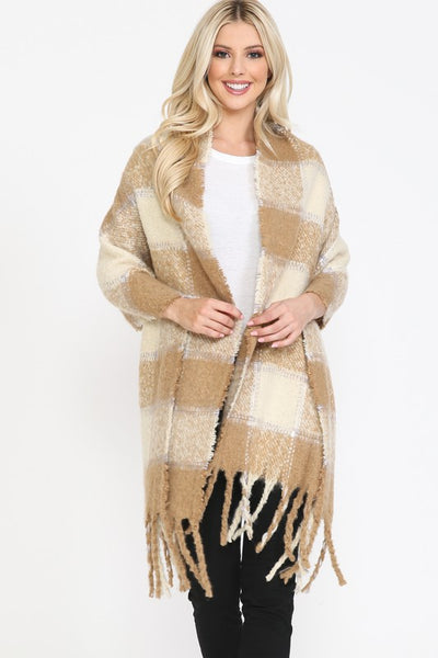 Tan - Delaney Oversized Scarf - Adami Dolls