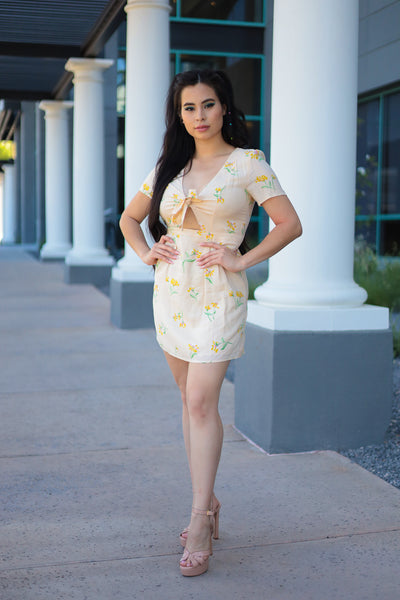 Yellow - Cindy Floral Dress