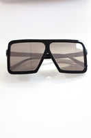 Gray - Mirrored Oversized Sunglasses