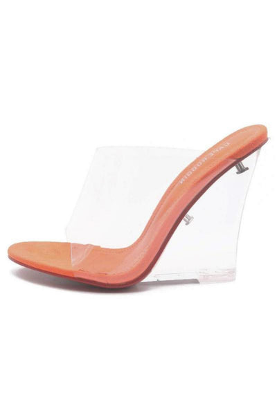 Orange - Sky High Clear Heel