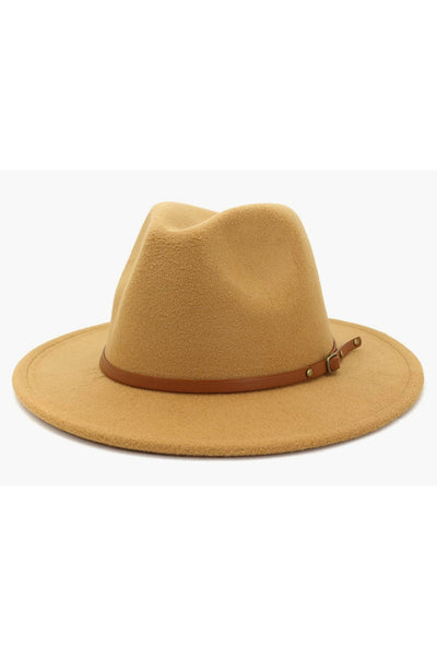 Camel - Brixton Hat (brown belt)