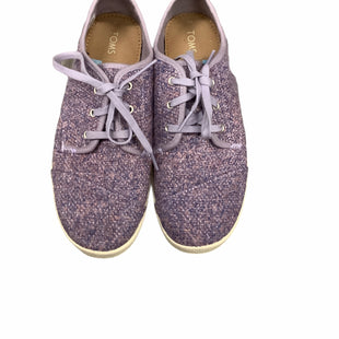 Toms Sneakers -   SIZE 8.  PURPLE.  USED IN OK CONDITION. .