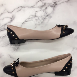 Carvela Kurt Geiger Flats -   NUDE AND BLACK BALLET FLATS .  INCLUDES BOW AND GOLD STUDS.  SIZE 37. .
