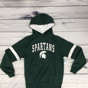 Colosseum Athletics Michigan State Hoodie - SIZE M (YOUTH). GREEN/WHITE.