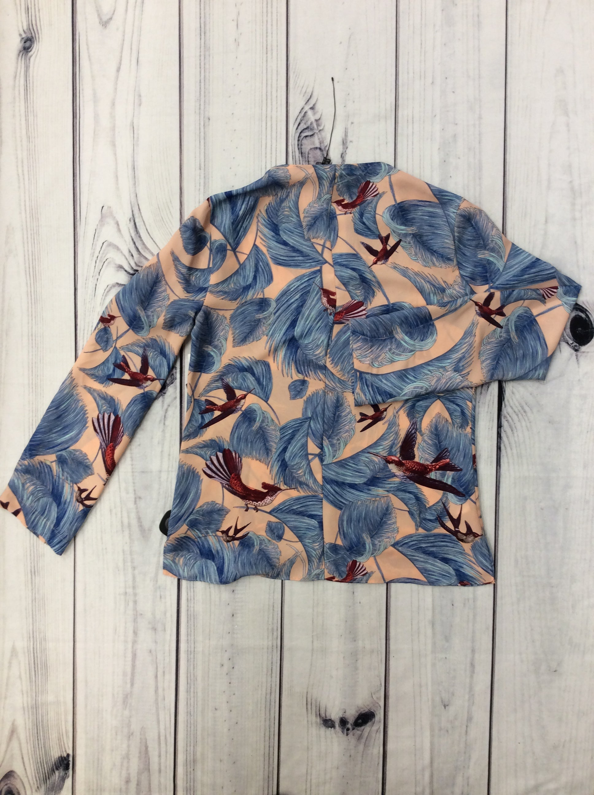 NWT BCBGMaxazria Blouse - <UL> <LI>SIZE XXS</LI> <LI>V-NECK</LI> <LI>BIRDS AND FEATHERS BLOUSE</LI> </UL>
