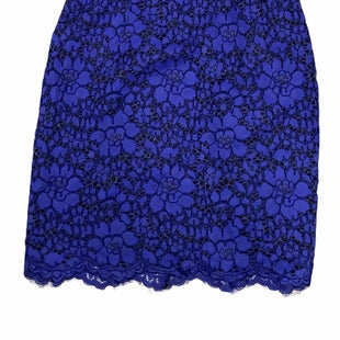 Karl Lagerfeld Lace Dress - COBALT BLUE DRESS WITH SHEER BLACK SLEEVES, AND BLACK COLLAR. SIZE: M. COLOR: BLUE.