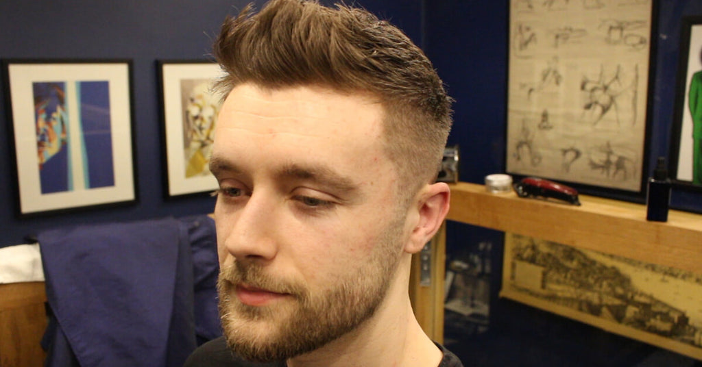 Short Textured Fade Haircut For Men With Front Cowlick Video