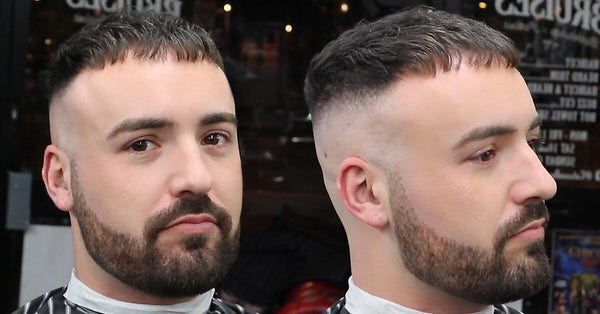 Caesar Cut Crop Haircut With High Skin Fade VIDEO