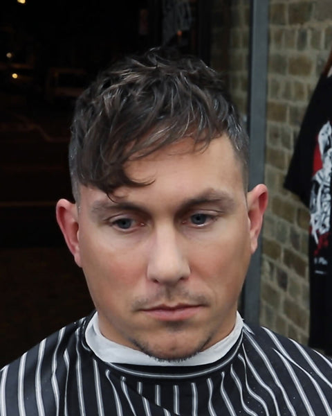 Textured Fringe Haircut For Men With Faded Undercut VIDEO