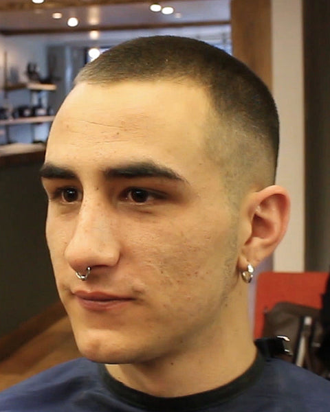 Buzz Cut Hairstyle Number 3 On Top With Skin Fade , VIDEO