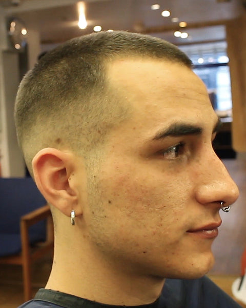 fade haircut numbers buzz cut hairstyle number 3 on top with skin fade 1467