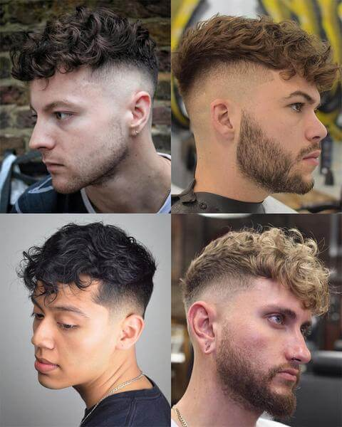 Curly Undercut Fade Haircut