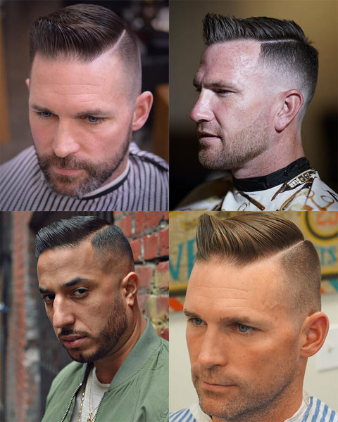 High And Tight Side Part Haircut