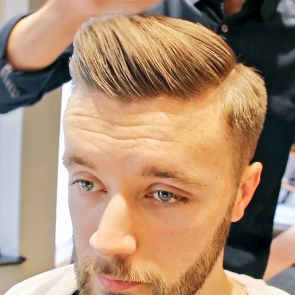 Ted's Grooming Room - Men's Short Fade Side Parting Haircut, Beard Trim & Ear Flaming At A London Turkish Barbers
