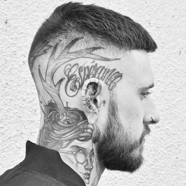Hair cuts with tattoos