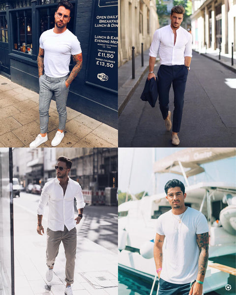 Plain White Shirt For Men | The Best Men's Summer Outfits