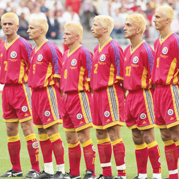14 Of The Most Memorable World Cup Haircuts Of All Time | Romania Team Blonde Hair World Cup 1998
