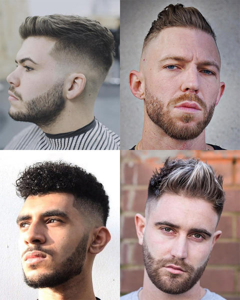21 Young Men S Haircuts 2018 High Fade With Cropped Top And Beard