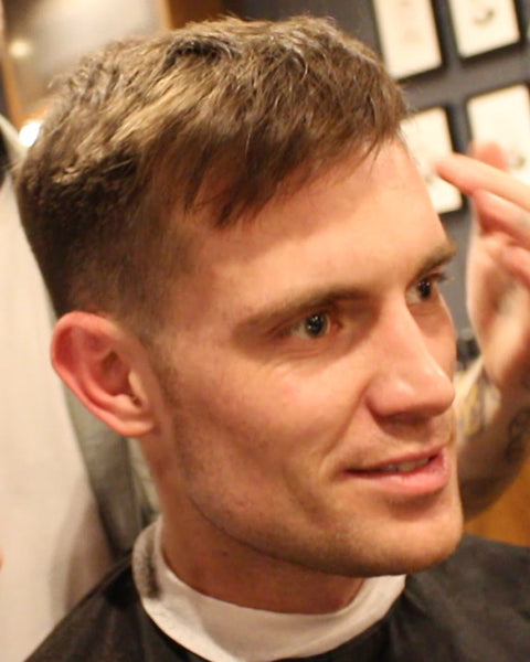 Swept Back 1.5 Fade Short Haircut For Men That Can Also Be Worn With A Fringe